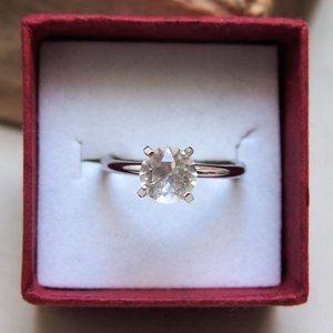 VTG Uncas Simulated Diamond Engagement Ring